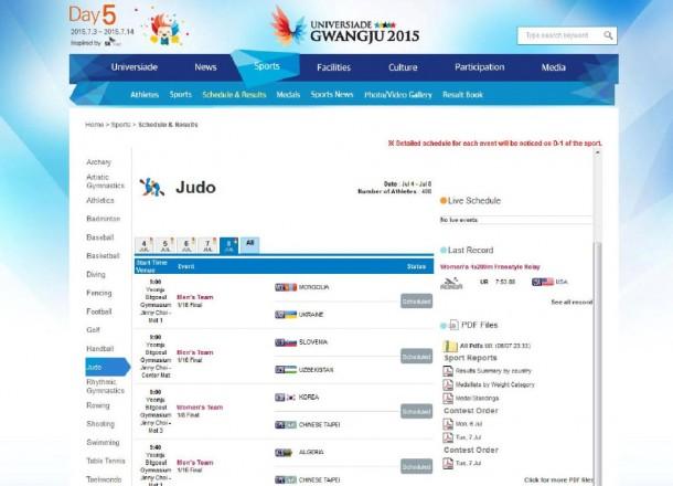 Universiade:  Teambewerb Frauen und Männer