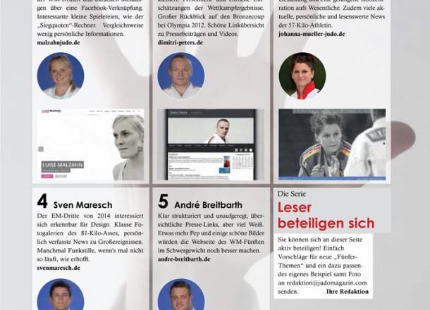 Die fünf... im aktuellen Judo Magazin.